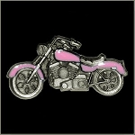 Pink Motorcycle Pin