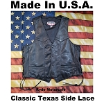 Made In USA Vest - Texas 4 Snap - Side lace